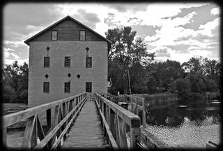 Lang Grist Mill (B&W)