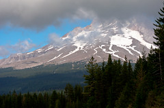 Mt. Hood Summit from Trillium Lake (Orbmiser) Tags: camping mountain nature oregon portland landscape nikon mthood wilderness trilliumlake d90 55200vr