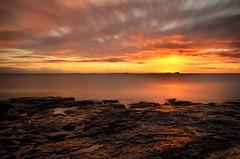 Farne Islands Sunrise (Caledonia Alan) Tags: sea england water sunrise coast day cloudy northumberland northsea lee bamburgh sigma1020mm bigstopper nikond7000 caledonia09 caledoniaalan