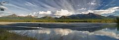 Break Horizon (Ed Boudreau) Tags: clouds river fallcolors bluesky conifer alaskamountains scenicsnotjustlandscapes