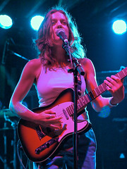 Ani DiFranco, sitting in with Ivan Neville's Dumpstaphunk at Tipitina's.