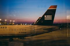 Departure (.monodrift) Tags: film plane sunrise airport f14 4 olympus faux summilux 25mm lightroom pl em5