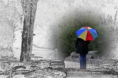 Le parapluie (jd.echenard) Tags: colors umbrella couleurs farbe paraguas biel parapluie regenschirm bienne bielersee seeland lacdebienne cantondeberne