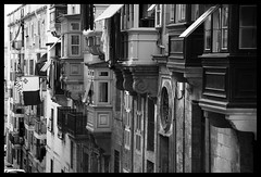 Balconies (albireo 2006) Tags: valletta malta balconies balcony blackwhitephotos blackandwhite blackandwhitephotos blackwhite bw