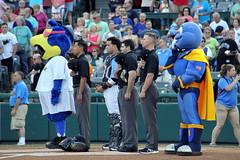 Umpire protection? (NJ Baseball) Tags: 2016 trenton newjersey minorleagues easternleague doublea trentonthunder binghamtonmets nightgame pregame