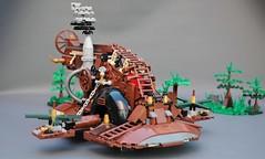 Steamwars - Steampunk Slave I (2) (adde51) Tags: adde51 lego moc steampunk starwars steamwars star wars boba fett slave i slavei slave1