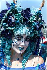 **MERMAID PARADE 2016 CONEY ISLAND NYC** (**THAT KID RICH**) Tags: richzoeller rich zoeller thatkidrich tkr mermaid parade mermaidparade coneyisland ny nyc newyorkcity brooklyn makeup art canon portrait blue dof canonphotography flowers eyes lips