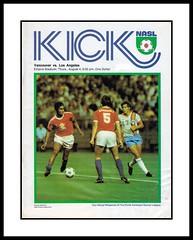 "KICK Magazine, 1977 (Cosmo's ""ART"" Gallery) Tags: kickmagazine nasl northamericansoccerleague vancouverwhitecaps soccer gameprogram losangelesaztecs 1977"