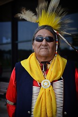 Shades copy (queenbeaphoto@att.net) Tags: bymelissafrybeasley people maledancer iicotpowwowofchampions 2016 colorful natural ndn regalia beadwork roach feathers goldenage handsome