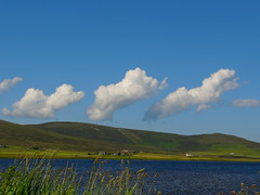 Clouds over Kirbister (stuartcroy) Tags: orkney island kirkwall kirbister colour clouds loch scotland scenery sky sea still sony water weather white waves hill