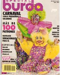 Cover of Portuguese Costume Magazine (booboo_babies) Tags: portuguese costumes carnival carnaval magazine clown colorful 1990s mardigras magazinecover