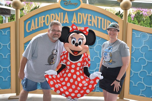 "Tracey and Scott with Minnie Mouse • <a style=""font-size:0.8em;"" href=""http://www.flickr.com/photos/28558260@N04/29231205935/"" target=""_blank"">View on Flickr</a>"