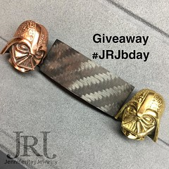 Giveaway Time!! To celebrate my Birthday I am doing a giveaway. There will be 2 winners!! What you could win: A custom Carbon Fiber Bracelet with Your choice of either the Brass or Copper Darth bead, 4x4 Matte Carbon Fiber knotted together with Black cord (JenniferRay.com) Tags: instagram carbon fiber jewelry exclusive jrj jennifer ray paracord custom