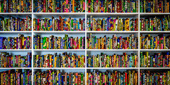 Well Read (Sean Batten) Tags: turnercontemporary margate england unitedkingdom gb thebritishlibrary yinkashonibare kent nikon df 35mm books shelves color names