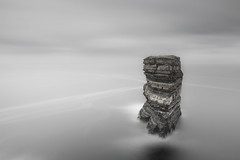 Stacked Against The Odds (TS446Photo) Tags: nikon nikkor zeiss trip holiday sea seascape minimal landscape water sky clouds long exposure longexposure stack seastack patrick ireland mayo downpatrickhead downpatrick head island isolated waves black white muted mono saturation monochrome lines d600