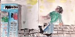 er war mehr gefallen als dass er gegangen war. Er hatte sich zu nchsten Bahnstation begeben. Wer konnte schon sagen, wohin ihn der Weg fhren wrde (raumoberbayern) Tags: sketchbook skizzenbuch tram munich mnchen bus strasenbahn herbst winter fall pencil bleistift paper papier robbbilder stadt city landschaft landscape