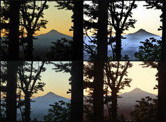 Many Moods of the Mountain (Oh Kaye) Tags: odc fun mthood collage cameraeffects sooc 100possibilitiesproject
