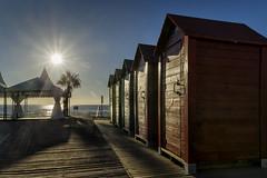 Vestuarios playeros - Beach dressing room (jmpastorg) Tags: espaa spain sanjuan alicante mar sea seascape landscape urbana urban caseta amanecer sunrise sun sol 2016 1750 nikon greatphotographers