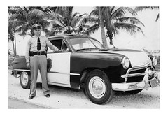 Florida Highway Patrol (blue65pv544) Tags: 1949 1950 1951 ford flathead shoebox police car florida highway patrol state trooper officer sheriff law enforcement vintage black white bw palm trees