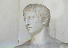 Polykleitos, Doryphoros, detail with head