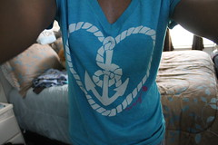 Lost at Sea~ (AishaNicole) Tags: blue favorite fashion shirt heart anchor vneck roped tumblr