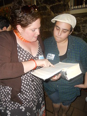 "Margot Meitner and SuzieSchwartz @ Beit Midrash • <a style=""font-size:0.8em;"" href=""http://www.flickr.com/photos/13831765@N07/7775479546/"" target=""_blank"">View on Flickr</a>"