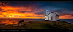 Tacking Point Lighthouse (Jay Daley) Tags: panorama lighthouse sunrise landscape nikon australia lookout nsw portmacquarie d800 1635 midnorthcoast tackingpoint