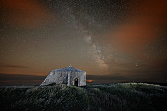 St Aldhelm's Chapel (Graham M Green) Tags: stars space nighttime dorset swanage purbeck worthmatravers enclosure milkyway earthwork staldhelmschapel prechristian earthandspace staldhelmshead normanchapel canonprimelens canonef14mmf28liiusm canon5dmkii