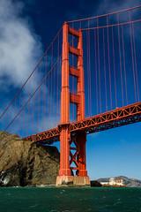 North Tower Bright (LifeLover4) Tags: bridge water architecture structure goldengatebridge sanfranciscobay marinheadlands circularpolarizer ggnra ggb limepoint efs1755mmf28isusm lifelover4 stickneydesign ggnpc11 ggb75
