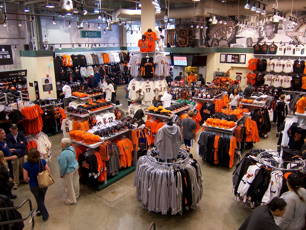 Interior of Giants Dugout Store at AT&T by donjd2, on Flickr