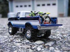 Headin' out to the dirt track! (DJ Witty) Tags: ford bike truck offroad pickup f150 dirt hotwheels motocross diecast texasdriveem