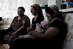 Women from Chechnya seeking safety in Poland (UNHCR Central Europe) Tags: children women centre poland safety reception migration humanrights asylum fleeing asylumseekers receptioncentre koloniahorbw