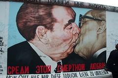 Berlin, Germany 6-2012 (daver6sf@yahoo.com) Tags: berlin germany graffiti mural thewall eastberlin leonidbrezhnev kissingmen erichhonecke dmitrivrube