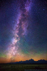 "Milky Way Dawn over Grand Teton Range (IronRodArt - Royce Bair (""Star Shooter"")) Tags: park sky usa mountains nature night america dark stars star evening twilight bravo shiny long exposure heaven glow shine nightscape time dusk infinity space deep grand twinkle astro sparkle galaxy national astrophotography planet astronomy grandtetons teton universe exploration range cosmic starry cosmos constellation distant nightscapes starrynight milkyway tetonrange starlight grandtetonnationalpark 123sky elkranchflats starrynightsky"