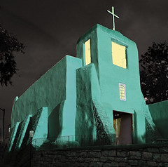 Aqua Church (Rennett Stowe) Tags: nightphotography green church window strange yellow night religious weird scary aqua cross christian odd nightlight catholicchurch santafenewmexico missionsanmiguel churchwindows greencross greenchurch romancatholicchurch yellowandgreen ilovegreen greenhues greenhue strangechurches greenismyfavoritecolor christianimages religiousphotography canoneos40d santafemission canon40d lonelychurch strangegreen unusualchurch weirdgreen yellowandgreenbuilding greenstructures churchesatnight greenstructure missionsanmiguelsantafe aquachurchtealtealchurchnightsacrednightmissionatnightparishatnightgreenchurchgreenbuilding religiousnight churchatnightpics photogreenchurch imagetealchurch oddcoloredchurch greenchristiancross greencatholicchurch greenhueonabuilding weirdchurchatnight howtodonightphotography yellowinawindow southweststylechurch sacredgreen sacredgreenstructures unusualcatholicchurch religiouisimages missionsanmiguelatnight greenatnight mostbeautifulchurches strangecoloredchurches weirdreligiousbuildings