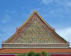 Wat Kanlayanamit Ubosot Gable (DTHB547) วัดกัลยณมิตรวรมหาวิหารหน้าจั่วพระอุโบสถ