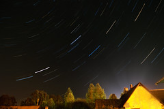 Star Trails [Read Description] (AlanScerbakov) Tags: sky house bulb night stars star nikon long exposure trails midnight 1855mm extended 30sec sek d3100 alanscerbakov