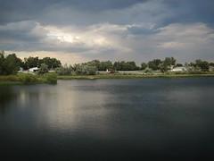 farm at evening (Eli Nixon) Tags: sunset sky lake water clouds landscape lowlight colorado september handheld hygiene eveningwalk iso80 bouldercounty elinixon pellacrossing canons90