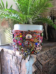 Cosmic Invasion Gypsy Jangle bracelet (AllThingsPretty) Tags: afghanistan glass metal vintage rainbow indian australia textile fabric cotton bracelet colourful woven etsy heavy charms rhinestones beaded pompoms global encrusted frayed kuchi bejewelled