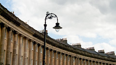 Somerset 2012: Crescent and lantern (mdiepraam) Tags: street building bath somerset lantern 2012 royalcrescent