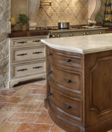 piso piedra cocina