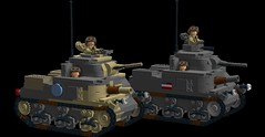 M3 Lee and M3 Grant (Florida Shoooter) Tags: usa lego britain northafrica ww2 ldd m3grant m3lee