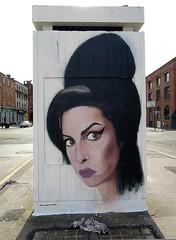 Amy Finito (Colour Blind Bob) Tags: street art painting photography graffiti photo nikon artist photographer spray coolpix pointandshoot amywinehouse akse p300 colourblindbob httpwwwaksep19com