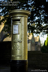 Anthony Kappes Gold Post Box (IHD Photography) Tags: gold dof post pentax box derbyshire anthony shallow k5 paralympics kappes smcfa50mmf14