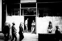 Break (stephen cosh) Tags: life street city people blackandwhite bw sepia mono scotland town unitedkingdom glasgow candid streetphotography rangefinder reallife humancondition blackandwhitephotos 50mmsummilux blackwhitephotos leicam9 stephencosh leicammonochrom leicamm