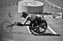 Im powered by disability* (Alexandre Moreau | Photography) Tags: london marathon uturn towerhill paralympics disability london2012 wheelchairmarathon