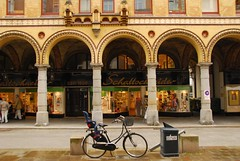 The Collonades_Hamburg (bobarcpics) Tags: bicycle retail germany hamburg columns arches streetscape brickwork collonade shopfronts