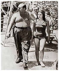 H.M. King Farouk with Princess Ferial In Alexandria In 1950's (Tulipe Noire) Tags: africa alexandria garden king princess egypt middleeast farouk 1950s egyptian swimwear ferial