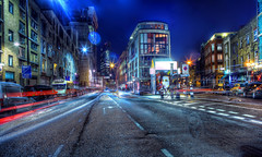 Towards Shoreditch High St (Anatoleya) Tags: road city 3 brick london night canon prime evening long exposure mark f14 iii central lane shoreditch hoxton 5d 24mm hdr rd bethnalgreen f14l 5d3 anatoleya