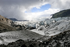 Svnafellsjkull Glacier (Robiats) Tags: park travel sky mountain snow ice rock clouds canon landscape island iceland europe hiking hike glacier national backpacking mountaineering trolls vatnajokull glacial skaftafell svnafellsjokull